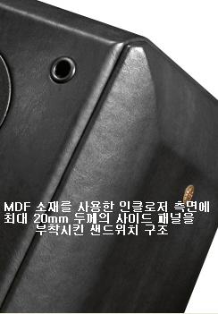 가죽 시트 마감의 중후한 모습의 캐비닛 설계